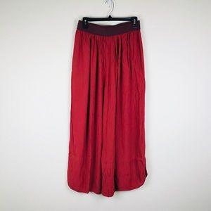 elevenses Pants - Anthro Elevenses Skirted Tulip Hem Wide Leg Pant